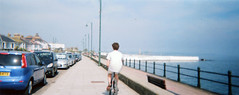 (Angry Jordy) Tags: panorama film bike cycling cornwall cyclist prom promenade penzance toycam batteryrocks mountsbay
