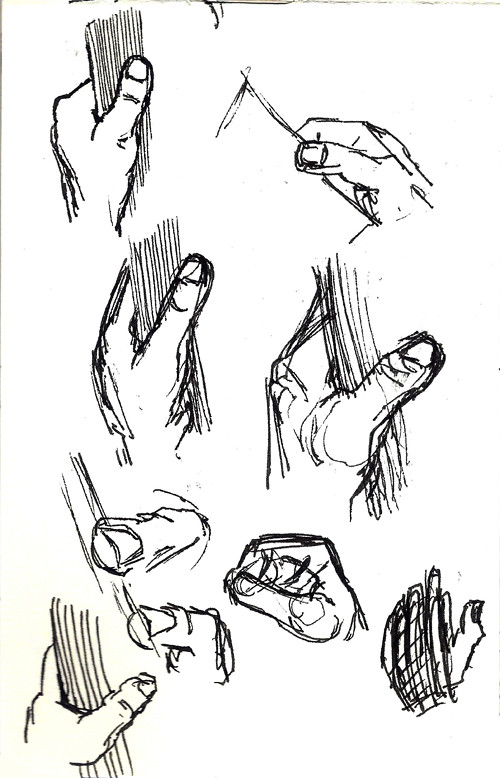 Hands I saw on the tube