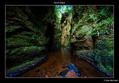 Devil's Pulpit (1Alan_M) Tags: uk river scotland sony towel lotr devil mystical witches alpha legend pulpit myth drowning a100 mordor wetfeet sparesocks bringwellies