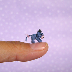 The smallest Eeyore ever! (MUFFA Miniatures) Tags: cute miniature funny doll handmade oneofakind ooak crochet donkey pooh piglet amigurumi eeyore dollhouse muffa cdhm threadminiatureanimals