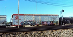 Northlake (+PR+) Tags: railroad graffiti trains crow railfan freight boxcars railcars chicagoland rollingstock rxr reefers benching acet cryotrans refrigeratedcars