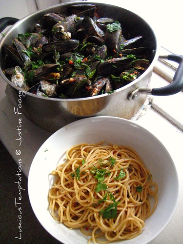 Mussels in a Tom Yum Broth with Herbs - Weekend Dinner