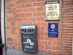 Outside a Pub (Kjackson90) Tags: london europe smoking pubs trashdisposal