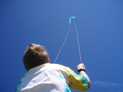 Taking some time to fly a kite