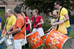 Edinburgh Samba School (duncanreddish) Tags: park street school summer drums edinburgh samba live drumming drummers dalmeny