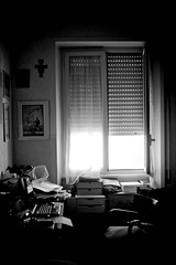 my uncle's study room (gcarmilla) Tags: bw home window studio casa uncle room finestra study stanza