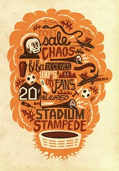 (One Horse Town) Tags: world africa justin cup typography skull football chaos stadium fifa soccer south exhibition royale 2010 poulter vuvuzela