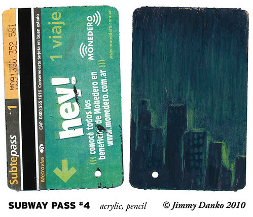Sketch of the Day: Back of Subway Pass #4