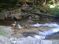 People at High Shoals Falls