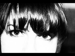 .. (::fotorosso::) Tags: blackandwhite bw woman selfportrait cinema me girl look self wonder 50mm see eyes highcontrast armslength explore stare clairobscur 525oftwentyten525of2010 themepair