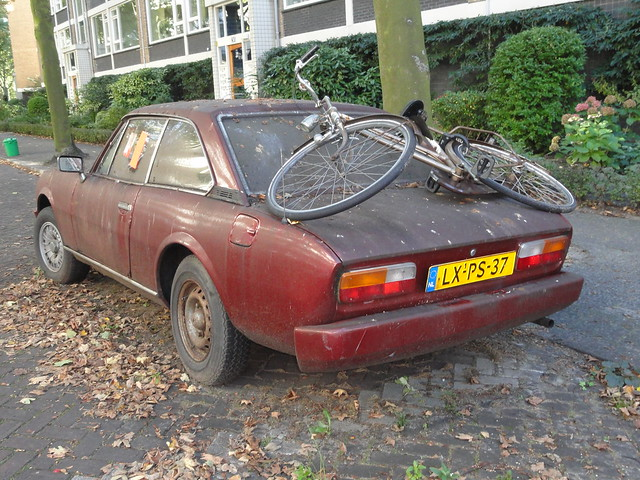 abandoned cars: peugeot 504 coupe