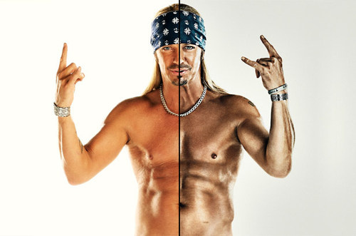 Bret Michaels' abs looking photoshopped