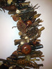 Handmade Wreath details (TzoFeltedGood) Tags: wooden cross handmade wreath handcrafted ξυλο χειροποιητο κοχυλια στεφανι