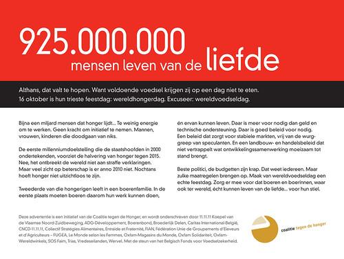 925.000.000 mensen leven van de liefde