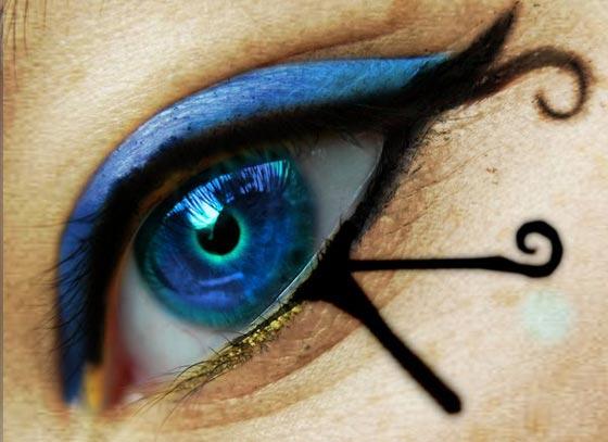 ojos editados con Photoshop