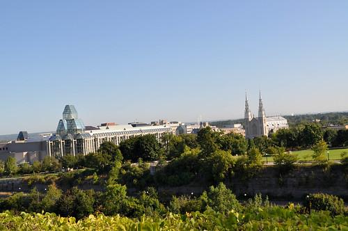 Vista de Notre Dame y la National Gallery desde los Edificios del Parlamento