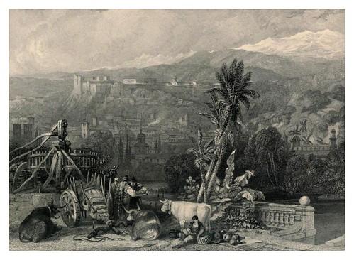 003-Granada desde el rio Genil-Tourist in Spain-Granada-1835-David Roberts