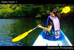 Happy Kayuk /  (AmpamukA) Tags: travel woman color green water girl smile forest happy boat stream amp thai lovely koh trad muk kood              kayuk   ampamuka