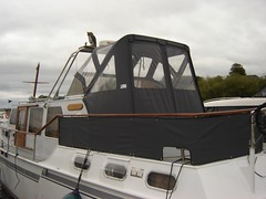 Dutch Steel canopy and dodgers 1 (Boat Covers Ireland) Tags: motorboat dodgers boatcoversireland dutchsteel boatcoverdesign boatcovermanufacture motorboatcover irelandboats dutchsteelcanopy dutchsteelcover canvasnboatcover