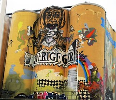 Graffiti Mariestad Silo work of Art #10 by RennyBA