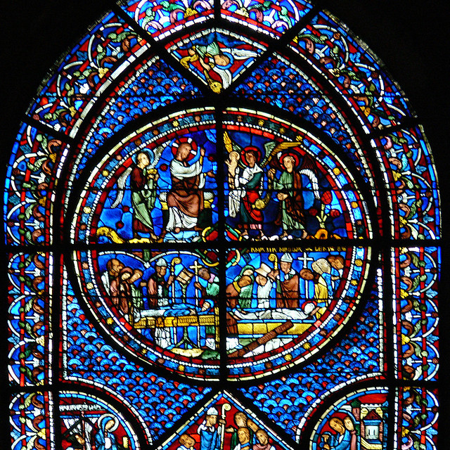 Mary Magdalene window - Chartres cathedral Medieval stained glass