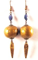 Ancient Egyptians and Iolite Earrings2 (1)