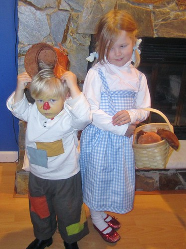 Scarecrow and Dorothy from the Wizard of Oz
