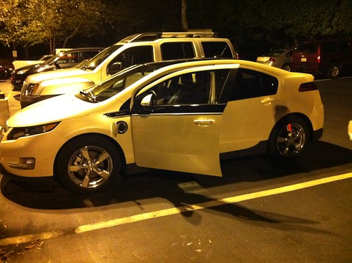 This is the Chevy Volt Wayne and I drove on the Raleigh to Richmond unplugged tour drive leg