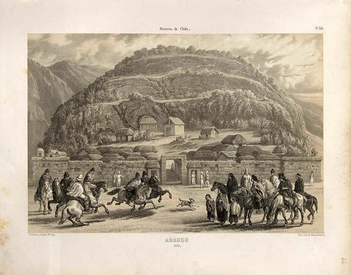 030-Arauco en 1839-Atlas de la historia física y política de Chile-1854-Claudio Gay