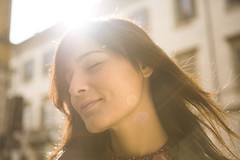 In the Sun (Stefano Libertini Protopapa) Tags: she light portrait woman brown sun milan beautiful smile face smiling reflections hair daylight donna italian day milano piano smiles muse primo sole riflessi musa luce viso stefano giorno inthesun mariangela mymuse riverbero libertini protopapa stefanolibertiniprotopapa