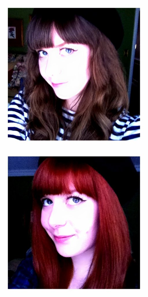 Before and After red hair color