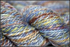 Elation is...a luxury yarn~ bfl/silk handspun ~ free ship