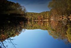 (ash) Tags: trees atlanta lake reflection mill creek ga ruins disaster sweetwater clurbex