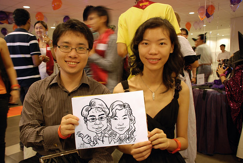Caricature live sketching for NTU Alumni Club - 2