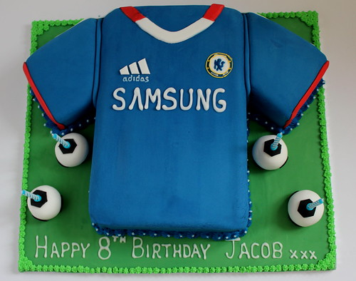 Chelsea Shirt Birthday Cake