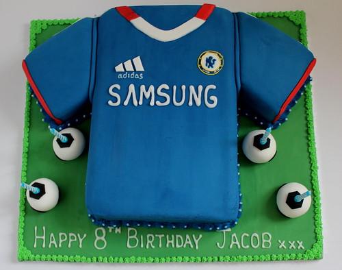 Chelsea Shirt Birthday Cake