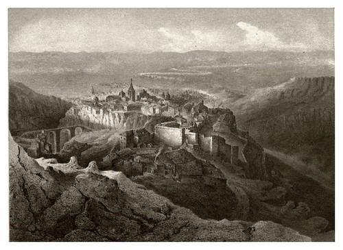 023-Cuenca desde el cerro de San Cristobal-Recuerdos y bellezas de España Castilla la Nueva Vol 2
