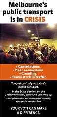墨尔本'公共交通工具处于危机- brochure cover
