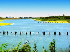 Marine Park Creek and Plum Beach Channel Junction (dimaruss34) Tags: clouds brooklyn dmitriyfomenko sky newyork image marinepark marineparkcreek