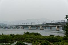 Railway bridge on the Han River that runs a freight train. (Michael@0730) Tags: gyeonggido southkorea kor