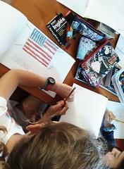 Día 4 . Empezamos a decorar nuestros cuadernos 01