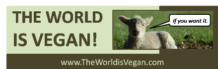 The World is Vegan 429 x 140