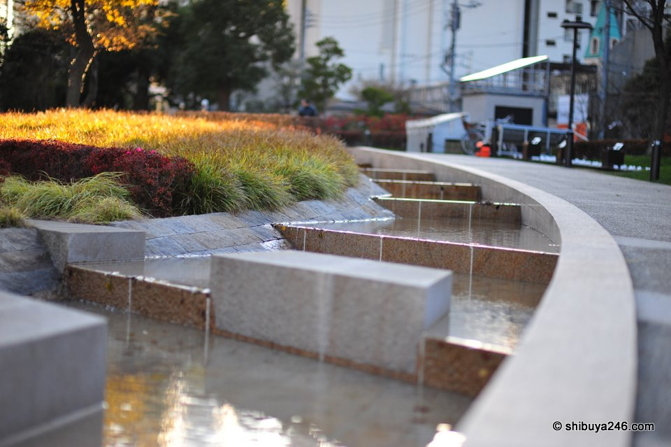 Nice water feature for people to walk past and enjoy.