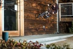Mikey Bump Jump to Wallride (brandonmeans) Tags: california wood old flowers winter plants green hair tile outside photography town bmx ride d70 parts secret brandon bikes