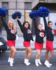 Cheer Fit Cheerleaders on Parade! (Cheer Fit) Tags: cheerleaders cheerleading legwarmers pompoms tubesocks londonparade newyearsdayparade cheerfit britishallstars newyearsday2010 londonparade2010 britishcheerleaders