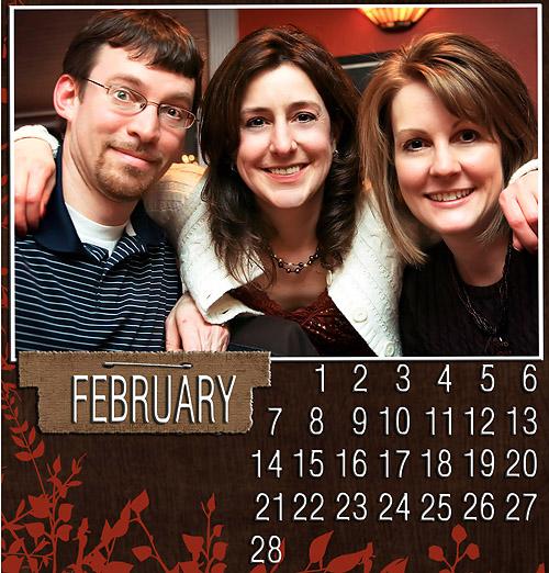 digi calendar feb