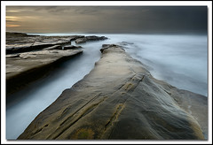 Seascape Initiation (.Bala) Tags: california longexposure beach sunrise nikon sandiego lajolla 1735mmf28d d700