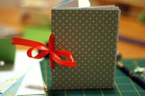 ribbon-bound blank books: almost done!