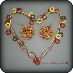 Crochet jewelery set