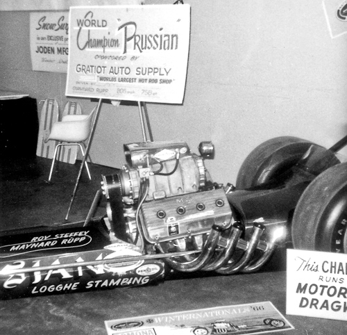 World Champion Steffey and Rupp dragster on display at 1966 Autorama